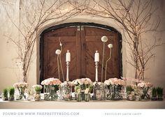 Nic & Nikki - Love is. Chic Wedding, Blue Wedding, Wedding Details, Wedding Reception, Wedding Flowers, Twig Lights, Fairy Lights, Wedding Centerpieces, Wedding Decorations