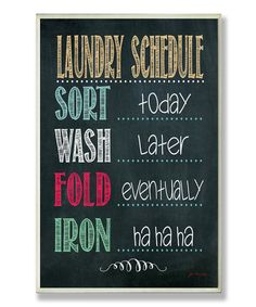 realistic laundry schedule...