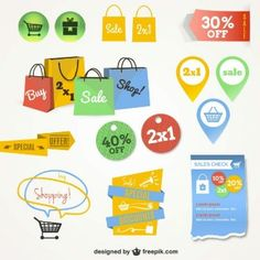 Online shopping interface graphics