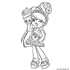 Print cute girl shopkins shoppies coloring pages