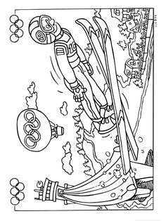 Skiing Coloring Page: Winter Olympics Crafts for Kids. - Skiing Coloring Page: Winter Olympics Crafts for Kids.