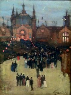 ۩۩ Painting the Town ۩۩ city, town, village & house art - Sir John Lavery | Glasgow Exhibition, 1888