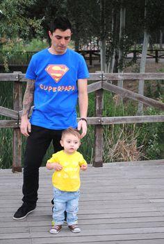 Camisetas divertidas para papas y bebes.
