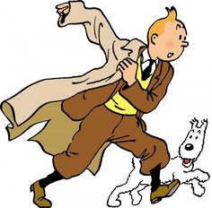 Tintin and his dog, Snowy.