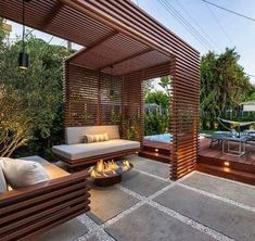 35 Fabulous Pergola Design Ideas For Inspire You Everytime - A pergola is a wonderful architectural element to add to any garden or landscape design. Pergolas are great for casting shade, providing support for c. Pergola Canopy, Outdoor Pergola, Backyard Pergola, Pergola Plans, Backyard Landscaping, Outdoor Decor, Cheap Pergola, Pergola Carport, Pergola Lighting
