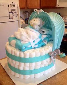 bassinet diaper cake | New Cake Ideas