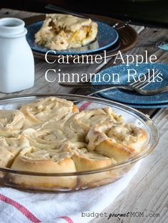 Caramel Apple Cinnamon Rolls -Budget Gourmet Mom