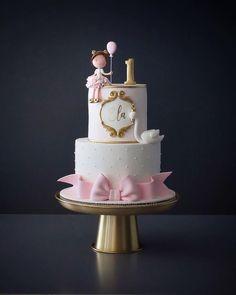 Schöne Mädchen Geburtstagstorte - #BabyKuchen