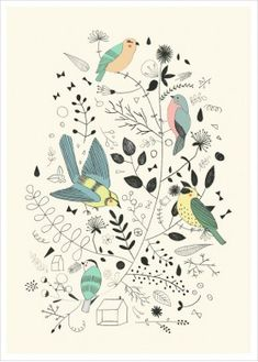 "It's Spring! ""Springtime Birds"" by Studio Meez"