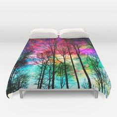 Buy ultra soft microfiber Duvet Covers featuring Colorful sky by haroulita. Hand sewn and meticulously crafted, these lightweight Duvet Cover vividly feature your favorite designs with a soft white reverse side.