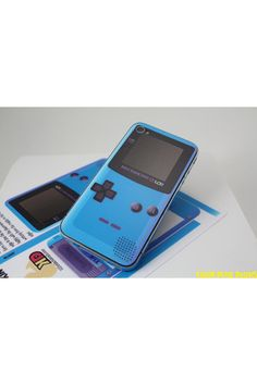 Deluxe Edition Game Boy Color Blue iPhone 4s Decal Skin.