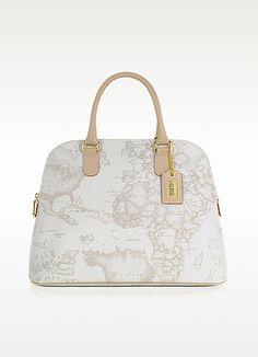 Alviero+Martini+1A+Classe+Large+White+Geo+Print+Tote+Bag   ...♥ purses with maps printed on them.....