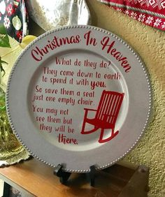 Christmas In Heaven SVG cut file A beautiful quote to have out at the holidays t… - Dollar tree christmas diy Dollar Tree Christmas, Christmas Plates, Diy Christmas Ornaments, Diy Christmas Gifts, Holiday Crafts, Christmas Time, Christmas In Heaven Ornament, Christmas Ideas, Nativity Ornaments