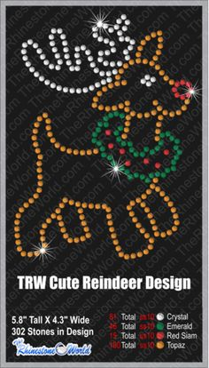 TRW Cute Reindeer (File Download Version w/ Mock Up)
