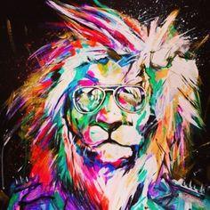 лев пастелью - Поиск в Google