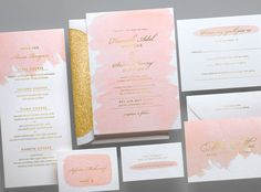 Kleinfeld Paper || Brushstroke Wedding Invitation Suite