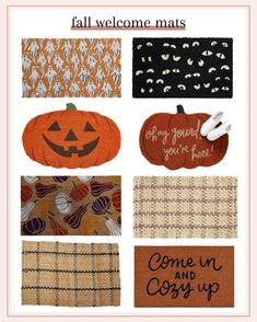 Fall welcome mats #LTKstyletip #LTKSeasonal #LTKhome