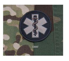 Velcro Morale Patch - Milspec Monkey - EMT STAR - Medical Emblem - PVC - SWAT