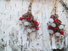 Valentine Berry earrings... find this and more @http://www.etsy.com/shop/victorygarden41?ref=ss_profile