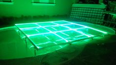 MOD NC-200PESP. Modules specially designed to cover pools, but can be used anytime. Fully transparent, with support frames and sills in aluminum, 12 mm tempered glass, LED perimeter lighting, automatic programs, without control. intelligent LED lighting 27 CH DMX. #led dance floor #lighted floor #smart led #party led #dancefloor light #led floor #led events #pistas iluminadas #pista de baile led #pistas luminosas #ness pistas #ness technology Led Dance, Light Led, Hard Rock, Flooring, Wedding, Design, Valentines Day Weddings, Wood Flooring