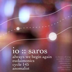 io :: saros :: back cover Begin Again, All Songs, Album, Cover, Music, Musica, Starting Over, Musik, Muziek