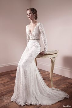 Gorgeous beaded ivory wedding gown