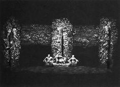 """"""" Götterdämmerung """" 1.Aufzug 1.Bild 1965 Wieland Wagner Bühnenphoto"""