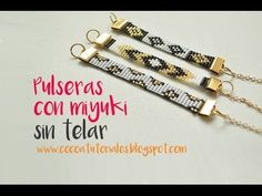 Curso Abalorios - Tecnicas con Miyuki ( Peyote Par ) - 1º parte - YouTube Bead Loom Patterns, Beading Patterns, Bead Jewellery, Beaded Jewelry, Bead Loom Bracelets, Bracelet Tutorial, Beading Tutorials, Loom Beading, Bead Crafts