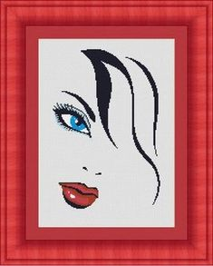 WOMAN FACE/ femme  Counted cross stitch by LudivinePointDeCroix