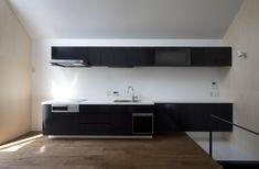 キッチン事例:子世帯キッチン(オウチ01・狭小二世帯住宅)