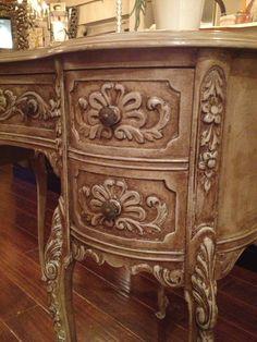 Vintage Revival Home- painted antique desk