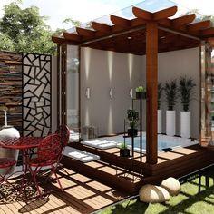 Hot Tub Garden, Hot Tub Backyard, Small Backyard Pools, Small Garden Jacuzzi, Hot Tub Gazebo, Small Pools, Pool Decks, Spa Jacuzzi, Jacuzzi Outdoor