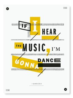 If I hear the music, I'm gonna dance by wireposterproject #Illustration #Music