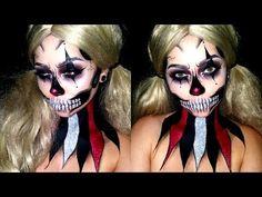 Glitter Clown Skull | HALLOWEEN MAKEUP | SFX\Paint - YouTube