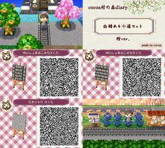 Animal Crossing: New Leaf QR Code Paths Pattern: Photo – Frauen Haar Modelle Qr Code Animal Crossing, Animal Crossing Qr Codes Clothes, Acnl Qr Codes Dresses, Sand Drawing, Acnl Paths, Tumblr App, Happy Home Designer, Post Animal, Kawaii