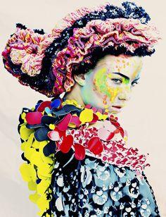 by Rafael Stahelin, Stylist - Justine Josephs for Textile Designer - Emma Lundgren Folk Fashion, Fashion Art, High Fashion, Fashion Ideas, Fashion Textiles, Fashion 2014, Fashion Today, Flower Fashion, Fashion Images