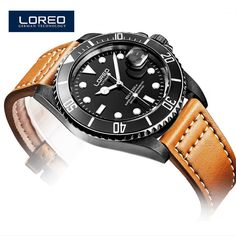 Relogio Masculino LOREO Luxury Brand Leather Strap Date Men'S Automatic Watch Casual Watch Men Wristwatch With Gift Box A03