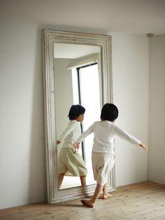 SANTA FE ウォールミラーサイズ:<ウォールミラー063>フレームサイズ :W63cm D4.5cm H161cm(ミラーサイズ : W46.5cm×H144.5cm)<ウォールミラー070>フレームサイズ :W70c