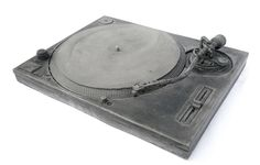 Hand-cast cement DJ Turntable - Bughouse