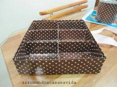 Queria uma caixa para pôr meus esmaltes que aumentaram de quantidade depois que passei a participar da blogagem coletiva. Ia até comprar, ma...