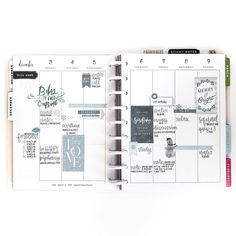 My Winter Wonderland spread this past week was one of my FAVES this year. I'm definitely bummed to be turning the page, except that last… happy planner Cute Planner, Planner Layout, Planner Pages, Weekly Planner, Happy Planner, Planner Ideas, Planning And Organizing, Planner Organization, Bullet Journal Inspiration