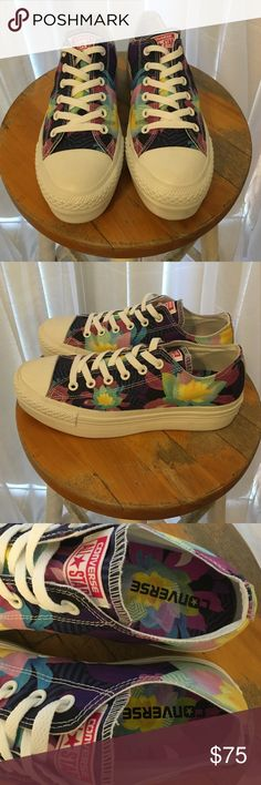 f4c2930cba12 Converse all star Platform Flower sneakers NWOT! These are Flower Fabulous  converse with a nice white platform