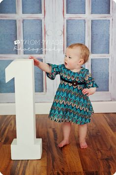 "Mom-Made | Sewing Shop and Photography Blog: One Year Old ""R"" Preview - baby girl first birthday"