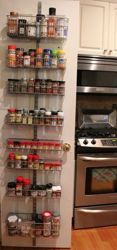 Organizing Spices with Elfa Shelving