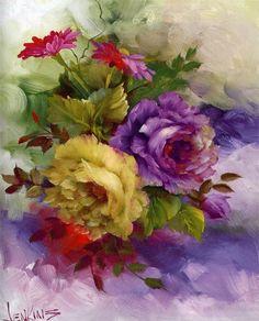 7 das Artes: Pinturas florais.