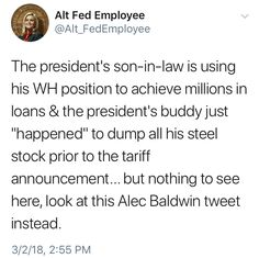 Russian threat unmentioned, as well, but Alec Baldwin is a top priority... #FuckTrump #FuckTheGOP
