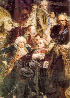 """Jan Matejko """"Rejtan - upadek Polski"""" - """"Rejtan - the Fall of Poland"""" Tadeusz…"""