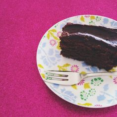 Delicious & dairy-free chocolate fudge cake - nice but dry, maybe cook less time