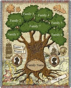 Family Tree Quilt The Family Tree Blanket by TheEmbroideryMaster