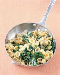 Orecchiette with Broccoli Rabe Recipe: If your skillet isn't large enough to accommodate both the broccoli rabe mixture and the pasta, you can toss them together in a large bowl instead.